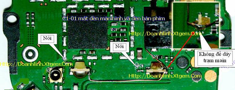 Câu tắt đường đèn màn hình và phím C1-01 so do cau tat song 1280